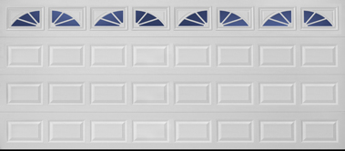 2 Car 16 X 7 Insulated Sectional Door With Design Windows